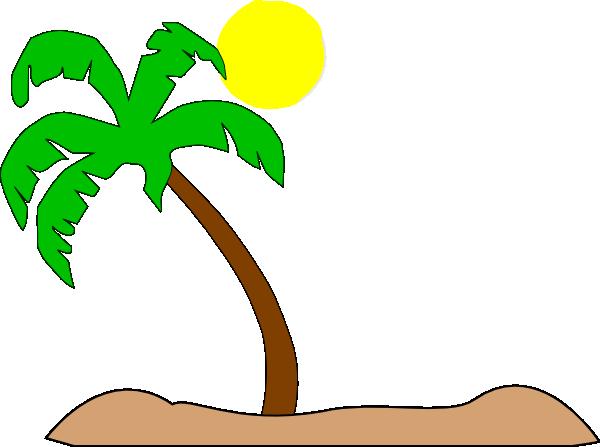 palm tree beach clipart - photo #10