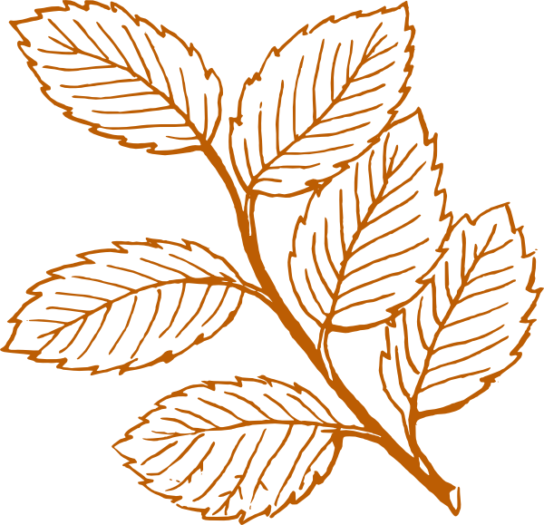 orange leaf clip art - photo #25