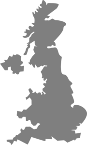 Silver Uk Map Clip Art