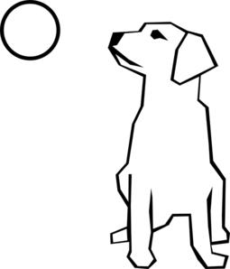 Simple Dog Clip Art