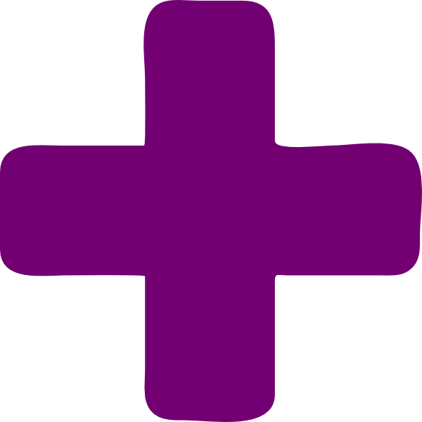 dark purple plus clip art