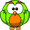 Green And Orange Hoot Clip Art