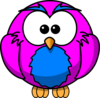 Purple And Blue Hoot  Clip Art