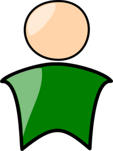 Person In Green Clip Art
