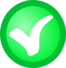 Small White Check Mark On Green Circle Clip Art