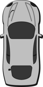 Gray Car - Top View - 90 Clip Art