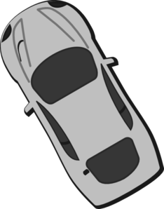 Gray Car - Top View - 120 Clip Art