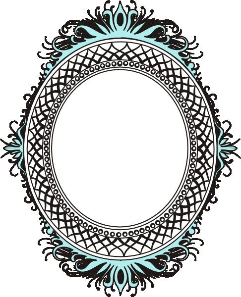 Oval Teal Mirror Clip Art At Vector Clip Art Online