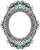 Oval Teal Mirror  Clip Art
