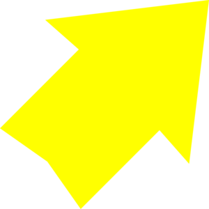 Right Up Yellow Arrow Clip Art