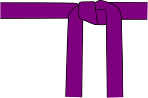 Purple Karate Belt Clip Art