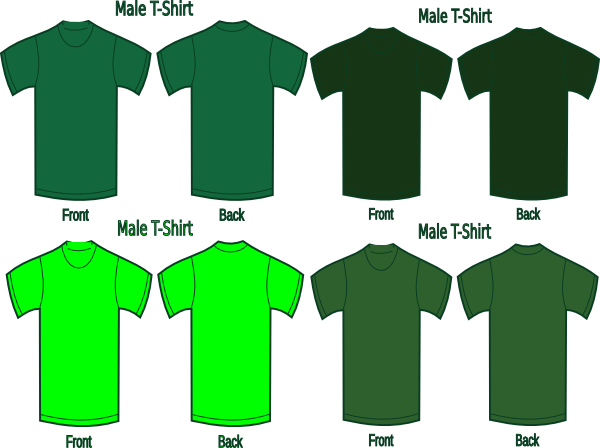 four green t shirts clip art at clker com