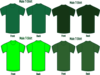 Four Green T Shirts Clip Art
