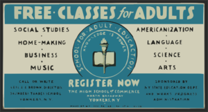 Free Classes For Adults - Register Now Clip Art