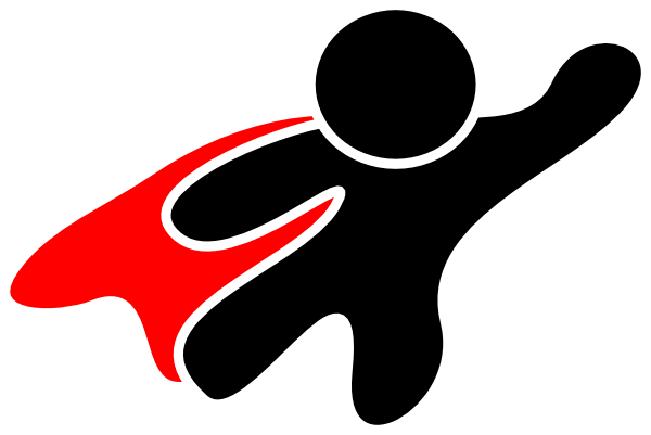 super hero red cape clip art at clker com vector clip Spider-Man Face Spider-Man Logo Clip Art
