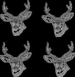 Deer Heads clip art - vector clip art online, royalty free ...