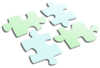 Puzzle Light Blue And Green Clip Art