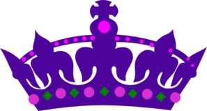Purple Queens Crown Clip Art