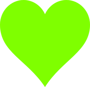 lime green heart clip art at clker com vector clip art online