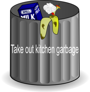 Chore: Kitchen Garbage Clip Art