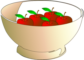Bowl 5 Apples Clip Art