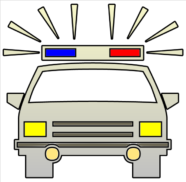 Police Car Cutout Clip Art at Clker.com - vector clip art ...