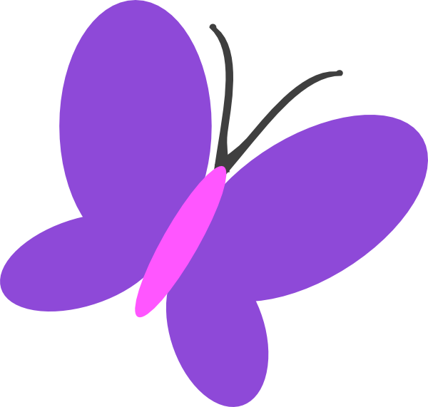 Purple Butterfly Flip Clip Art at Clker.com - vector clip art ...