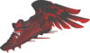 Winged Foot, Red And Black Gradient Clip Art