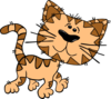 Cartoon Cat Walking Clip Art