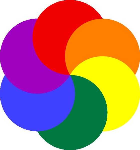rainbow of colors clip at clker vector clip