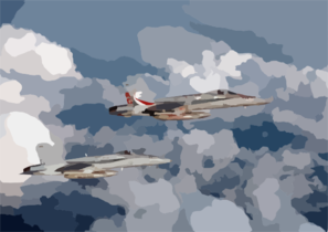 F/a-18 In Flight Clip Art