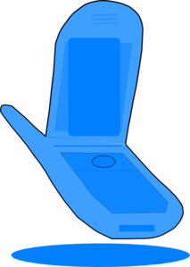 Blue Cell Phone Clip Art