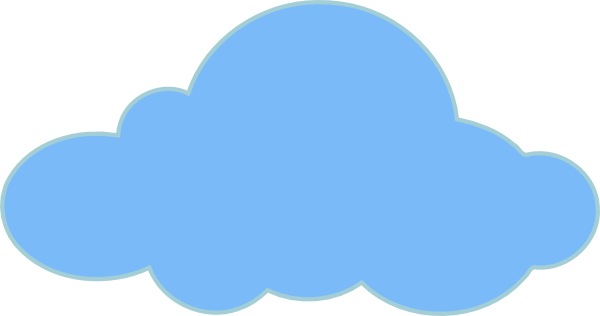 Cloud Clip Art at Clker.com - vector clip art online, royalty free ...