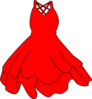 Red Dress Clip Art