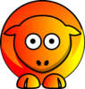 Sheep - Fire Orange And Yellow Clip Art