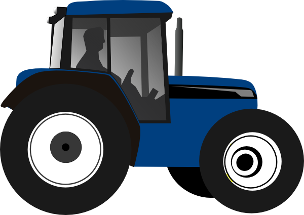 Tractor-blue Clip Art at Clker.com - vector clip art online, royalty ...