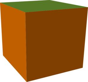 Brown-green Cube Clip Art