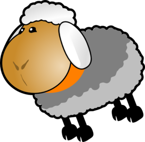 Sheep Grey Yellow Clip Art