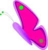 Purple Pink Green Butterfly Clip Art