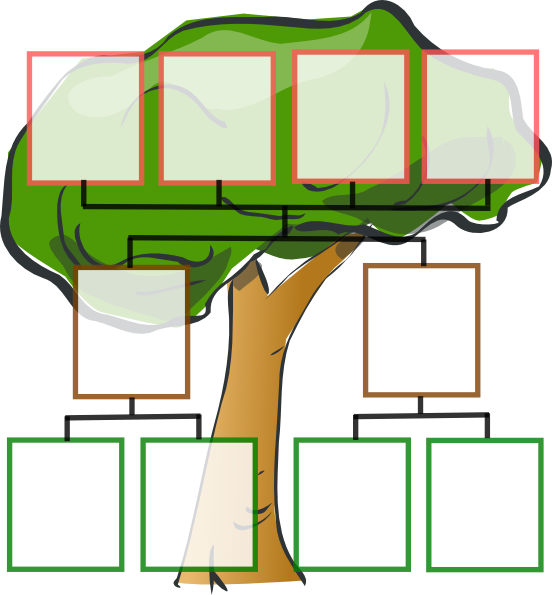 Family Tree - 3-generation Clip Art at Clker.com - vector ...
