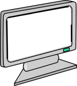 blank screen computer monitor clip art at clker com vector clip rh clker com monitor clipart black and white monitor clipart free