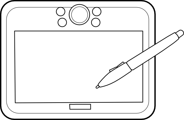 Drawing Lines With Tablet : Graphic tablet clip art at clker vector