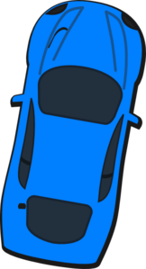 Blue Car - Top View - 80 Clip Art