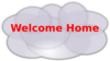 Cloud With Welcome Home Clip Art