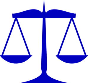Blue Scales Of Justice Clip Art