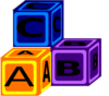 Abc Blocks Clip Art
