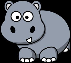 Side Hippo Clip Art at Clker.com - vector clip art online ...