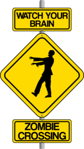 Zombie Crossing Sign Clip Art
