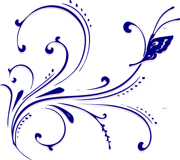 Butterfly Flourish Clip Art At Clkercom Vector Online