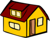 Yellow Detached House Clip Art
